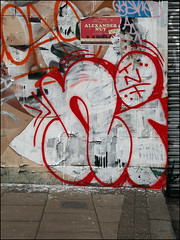 Nigel (Alex Ellison) Tags: nigel tnf eastlondon urban graffiti graff boobs throwup throwie