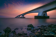 Netherlands // Zeelandbrug (Toon E) Tags: 2016 holland netherlands nederland zeeland brigde longest sunrise morning sony a7rii tonika tonikaatx116pro1116f28 outdoor water longexposure