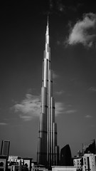 Burj Khalifa, Dubai (garethlowndes) Tags: burjkhalifa burj khalifa dubai blackandwhite city building architecture sky