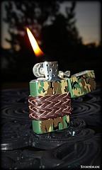 leather lace gaucho knot on my camo zippo (Stormdrane) Tags: zippo camo lighter slim stormdrane gaucho knot leather lace decorative useful grip design fire cigar smokes beprepared edc