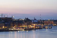 Skeppsbron By Night (Carolin de Verdier) Tags: stockholm night dusk evening lights boats pier dock water reflections skeppsbron natt skymning kvll ljus btar kaj pir vatten reflektioner bluehour