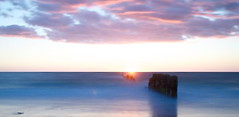DREAMY SUNSET (Sven Dost) Tags: dreamy dream dreams red colored long time nikon d5100 nikkor 1855mm sirui nd filter sylt germany deutschland kampen epic evening beautiful rocks water wasser steine summer beach