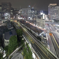 Ginza (spiraldelight) Tags: tse17mmf4l eos5dmkii tokyo   ginza traffictrails night