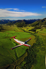 Pilatus PC-12 NG (Next Generation) (aeroman3) Tags: aerial cabin grassstrip mountains pilatuspc12ng pressurized smileycreek turbine turboprop ketchum id usa