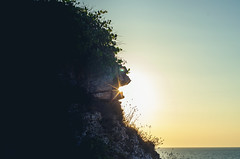 Trapped In A Rock (Francesco Alemanno) Tags: sea seaside water love light sunset sun ray rock trapped