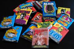 Pile of Packs (_Codename_) Tags: rainbow cards vintage retro wax waxpacks batman et gemlins indianajones raidersofthelostark starwars returnofthejedi theempirestrikesback darthvader gizmo c3po backtothefuture delores alien goonies sloth littleshopofhorrors grease joker