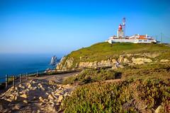 Cabo da Roca (REAL PLUS) Tags: sonnenuntergang nature natur leuchtturm meer atlantik portugal landschaft landscape langzeitbelichtung sehenswrdigkeit europa farbenfroh wasser nikon d5200 kste sigma 1835mm
