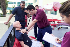 Paramedic II Lab Exercise (CityCollegeMIA) Tags: ems cpr bls paramedic lifesavers heroes lifesupport handson emergencymedicalservices er citycollege miami florida