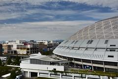 Nagoya Dome ,Japan. (marcelo.nakazaki) Tags: asia aichiken nagoya japan japao japon cidade city ceu sky nuvem arvores tree pessoas people postcard