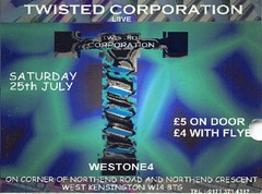Twisted Corporation (Mary Hawkins) Tags: flyer clubkid london 1998 summer terrible computergraphics 1990s