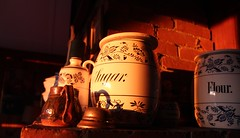 This Old House (may-in-june) Tags: antiques old sunlight morning sunrise series white brown bright contrast indoor pottery china teapot pitcher