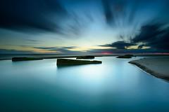 r e m a i n s (JulienGr) Tags: long exposure sunset cloud clouds cloudy sea seascape remains atlantic wall mur de latlantique cap ferret summer nikon lee filters filter gnd