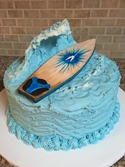 Surfboard Big Wave Grooms Cake (dms81) Tags: cake groomscake waves blue ocean bigwave surfboard