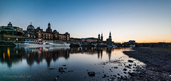 Dresden in blue hour (uwe_neuber) Tags: blue hour wanderlust city cityscape scape water reflection