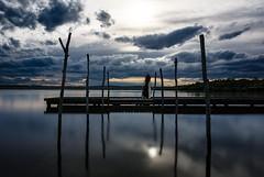 Esprit du lac (Histri0n) Tags: paysage reflection reflexion clouds lac lake ponton surreal irreel