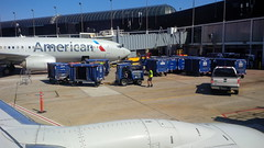 baggage traffic (army.arch) Tags: chicago illinois il ohare international airport airplane jetway luggage trucks american