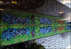 Songe, Brok, Dash & Takt (Chrixcel) Tags: graffiti tag tags reflet dash graff dsk brok songe dashe takt 3hcgraff flaquefresque