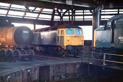 1980-12-25 47348, 40152  Thornaby roundhouse (John Carter 1962) Tags: br rail trains 40 te railways 47