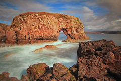 The Wee Arch, Loch Ewe. (Gordie Broon.) Tags: ocean sea seascape nature clouds geotagged photography scotland fishing scenery rocks alba cove scenic escocia schottland westerross ecosse naturalarch poolewe lochewe inverasdale canoneos7d gordiebroon scottishwesternhighlands