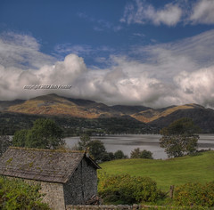 Old Man of Coniston from Brantwood (BoblyP) Tags: uk greatbritain england sky mountain clouds geotagged town nationalpark village lakedistrict cumbria backdrop coniston frontdoor englishcountryside frontgarden countrytown greatphotographers oldmanofconiston northwestengland lakeconiston boblyp mygearandme blinkagain bestevercompetitiongroup geo:lat=5435265188919444 geo:lon=3060395312879564