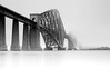 Forth Bridge (angus clyne) Tags: bridge cloud white mist black cold rain fog scotland long exposure tour picture scottish rail forth photograph drizzle firth gloaming