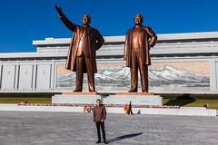 Myself - Mansudae Grand Monument (Tom Peddle) Tags: monument tom kim north grand korea il korean peddle jong pyongyang sung dprk mansudae