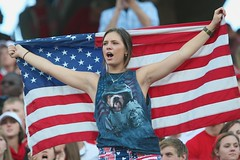 Tribute to Veterans (Brian Utesch (shutterBRI)) Tags: woman usa game america canon fan football stadium flag american fans ncaa ncsu wakeforest 2012 usflag wolfpack veteransday ncstate carterfinley shutterbri brianutesch ncsuwolfpack