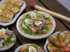 Veg Salad (Shay Aaron) Tags: food miniature handmade mini polymerclay fimo tiny 12th 112 dollhouse petit oneinchscale