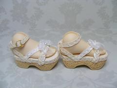 BJD Doll Shoe 710S-side view Special Order        Dollstown 7yr (Kim Zentner) Tags: pink shoes doll handmade tessa grapefruit kaye wiggs pinkgrapefruit dollshoes dollstown dollshe iplehouse kayewiggs bjddollshoes oct14a