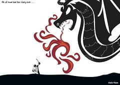Gaza Knight (khalid Albaih) Tags: israel islam sudan cartoon gaza 2012 khartoon