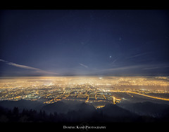 Lights of Zurich (Dominic Kamp) Tags: city tower night lights star hotel switzerland nikon long exposure earth zurich trail galaxy rotation zrich uetliberg dominic vixen kamp celestron d800 kulm polarie