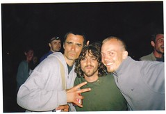 "Brent with Craig (hook and sling) and Chris (Bandog) formaly of UK rap legendary group Killa Instinct at Glastonbury 2005. Our first reunion since 1991 I believe¬ • <a style=""font-size:0.8em;"" href=""http://www.flickr.com/photos/37867910@N00/8198706077/"" target=""_blank"">View on Flickr</a>"