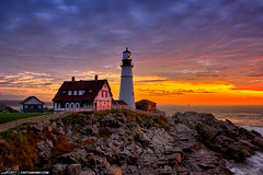 Portland-Maine-Lighthouse-at-Cape-Elizabeth-During-Sunrise