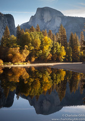 Yosemite, Half Dome Reflected and Morning Mist (Charlotte Hamilton Gibb) Tags: california usa mist reflection landscape yosemite halfdome yosemitenationalpark yosemitevalley yosemitenp charlottegibbphotography