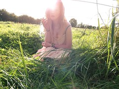 summer came shuffling, sand in my shoes (helloaperture) Tags: trees ireland summer dublin field grass cigarette lensflare 17 rollie irishgirl brownhairedgirl tipperaryireland summer2012 dearbhlawhelehanryan ap3rtures