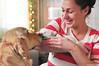 we are 5 days old !! (.:: Maya ::.) Tags: woman dog baby love puppy golden retriever mayaeye mayakarkalicheva маякъркаличева
