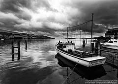 Careys Bay, Dunedin, Otago, New Zealand (Bass Photography) Tags: newzealand cloud fish storm water harbor pier boat blackwhite fishing harbour jetty southisland otago dunedin sailor beverley careysbay beverleypearl
