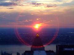 Sunset over One Worldwide Plaza (Joefuz) Tags: plaza nyc newyorkcity sunset newyork one manhattan worldwide empirestate newyorknewyork topoftherock oneworldwideplaza sunsetfromthetopoftherock