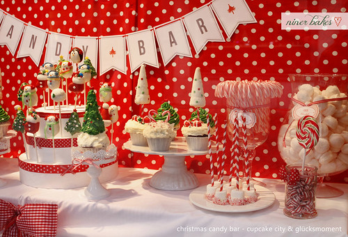 Christmas Candy Bar // Sweet Table by niner bakes, on Flickr