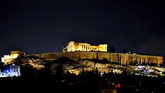 Acropolis by Night (RobW_) Tags: november rooftop night athens greece friday acropolis 2012 floodlights diaryphoto veikou nov2012 mdpd2012 mdpd201211 30nov2012