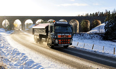 _ASN6779 A Ross and Sons lorry on snowy road, Inverness-Shire (Aaron Sneddon Photography & Aerial Photographer) Tags: snowroad snowconditions lorryroad arossandsons tomatinroad