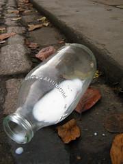 Don't cry (Nogatron) Tags: street glass milk bottle oxford discarded dairy oxfordstreet oxforduniversity oxfordshire spilt spiltmilk milkbottle oxfordcity