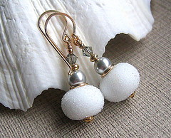 Ice Ice Baby (Beguiled By The Bead) Tags: jewellery earrings glassbead lampwork beaded goldfilled trudidoherty