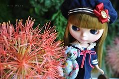 Olivia no jardim