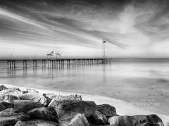 Morning calm (PhotoArt Images) Tags: longexposure beach water mono rocks australia monochromatic le adelaide southaustralia nikond700 nikon2470mm28 photoartimages brightonbeachadelaide