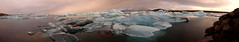 Jokulsarlon (Luminor) Tags: morning travel panorama cloud colour ice nature water sunrise island dawn early iceland still nikon europe colours pano south overcast east jokulsarlon iceburg 1635mm hofn d700