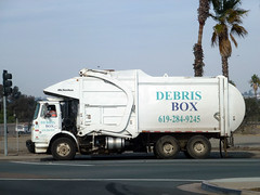 Debris Box Garbage Truck (Photo Nut 2011) Tags: california trash truck garbage junk sandiego waste refuse sanitation garbagetruck trashtruck wastedisposal mcneilus debrisbox