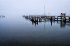 Foggy mornin' (Ed Rosack) Tags: mist water weather fog sailboat river landscape dock unitedstates florida titusville spaceviewpark maxbrewercauseway