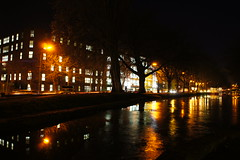 The Grand Canal Freezing Over (Jay Jay Kane) Tags: longexposure ireland dublin irish nature night landscape canal long frost slow sony clear shutter 1855 grandcanal dublincity nex5 sonynex sonynex5