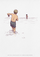 a simple day from future (ahmetcoka) Tags: sea summer cold me illustration swim self turkey walking landscape fun seaside spring waiting couple day joke sunny shallow invite bodrum gndoan hlya ahmetcoka